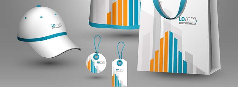 A collection of promotional item to show corporate identity